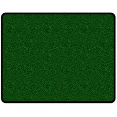 Texture Green Rush Easter Double Sided Fleece Blanket (medium)  by Simbadda