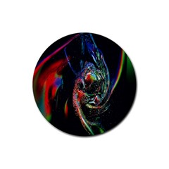 Abstraction Dive From Inside Rubber Coaster (round)  by Simbadda