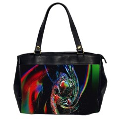 Abstraction Dive From Inside Office Handbags (2 Sides)  by Simbadda