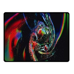 Abstraction Dive From Inside Fleece Blanket (small) by Simbadda