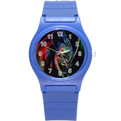 Abstraction Dive From Inside Round Plastic Sport Watch (s) by Simbadda