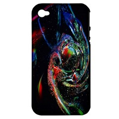 Abstraction Dive From Inside Apple Iphone 4/4s Hardshell Case (pc+silicone) by Simbadda