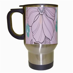 Background Texture Flowers Leaves Buds Travel Mugs (white) by Simbadda