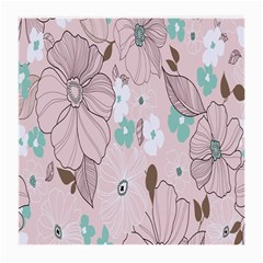 Background Texture Flowers Leaves Buds Medium Glasses Cloth (2 Side) by Simbadda