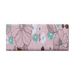 Background Texture Flowers Leaves Buds Cosmetic Storage Cases by Simbadda