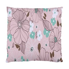 Background Texture Flowers Leaves Buds Standard Cushion Case (one Side) by Simbadda