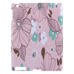 Background Texture Flowers Leaves Buds Apple Ipad 3/4 Hardshell Case by Simbadda