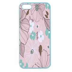 Background Texture Flowers Leaves Buds Apple Seamless Iphone 5 Case (color) by Simbadda