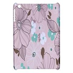 Background Texture Flowers Leaves Buds Apple Ipad Mini Hardshell Case by Simbadda