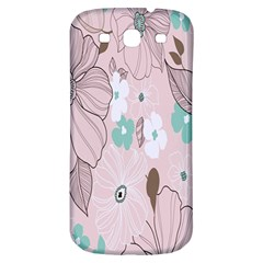Background Texture Flowers Leaves Buds Samsung Galaxy S3 S Iii Classic Hardshell Back Case by Simbadda