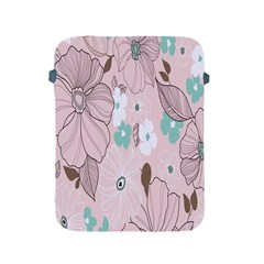Background Texture Flowers Leaves Buds Apple Ipad 2/3/4 Protective Soft Cases by Simbadda