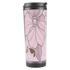 Background Texture Flowers Leaves Buds Travel Tumbler by Simbadda