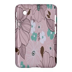 Background Texture Flowers Leaves Buds Samsung Galaxy Tab 2 (7 ) P3100 Hardshell Case  by Simbadda