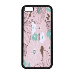 Background Texture Flowers Leaves Buds Apple Iphone 5c Seamless Case (black) by Simbadda