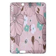 Background Texture Flowers Leaves Buds Kindle Fire Hdx Hardshell Case by Simbadda