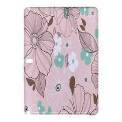 Background Texture Flowers Leaves Buds Samsung Galaxy Tab Pro 12 2 Hardshell Case by Simbadda