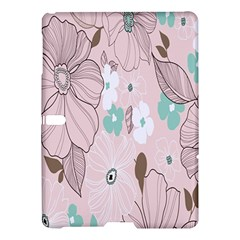 Background Texture Flowers Leaves Buds Samsung Galaxy Tab S (10 5 ) Hardshell Case  by Simbadda