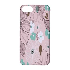 Background Texture Flowers Leaves Buds Apple Iphone 7 Hardshell Case by Simbadda