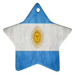 Argentina Texture Background Ornament (star) by Simbadda