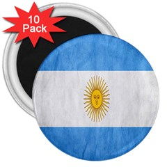 Argentina Texture Background 3  Magnets (10 Pack)  by Simbadda