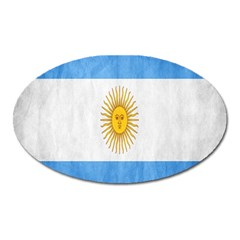 Argentina Texture Background Oval Magnet by Simbadda