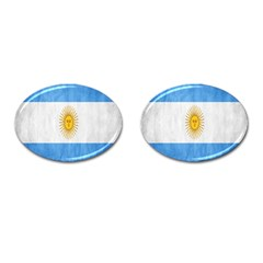 Argentina Texture Background Cufflinks (oval) by Simbadda