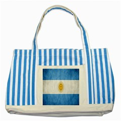 Argentina Texture Background Striped Blue Tote Bag by Simbadda