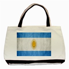 Argentina Texture Background Basic Tote Bag (two Sides) by Simbadda