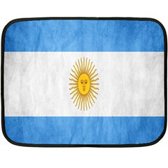 Argentina Texture Background Fleece Blanket (mini) by Simbadda