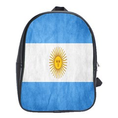 Argentina Texture Background School Bags(large)  by Simbadda