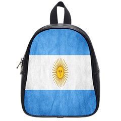 Argentina Texture Background School Bags (small)  by Simbadda