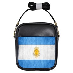 Argentina Texture Background Girls Sling Bags by Simbadda