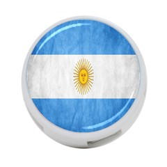 Argentina Texture Background 4 Port Usb Hub (two Sides)  by Simbadda