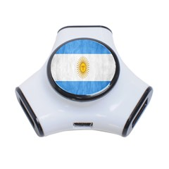 Argentina Texture Background 3 Port Usb Hub by Simbadda