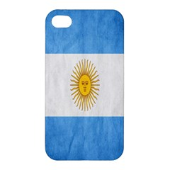Argentina Texture Background Apple Iphone 4/4s Premium Hardshell Case by Simbadda