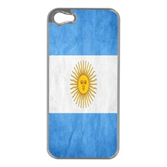 Argentina Texture Background Apple Iphone 5 Case (silver) by Simbadda