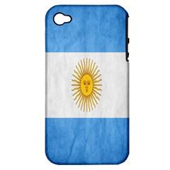 Argentina Texture Background Apple Iphone 4/4s Hardshell Case (pc+silicone) by Simbadda