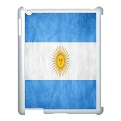 Argentina Texture Background Apple Ipad 3/4 Case (white) by Simbadda