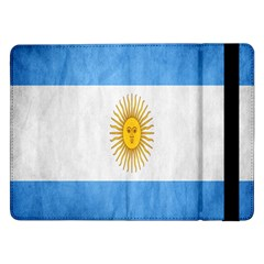 Argentina Texture Background Samsung Galaxy Tab Pro 12 2  Flip Case by Simbadda