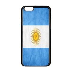 Argentina Texture Background Apple Iphone 6/6s Black Enamel Case by Simbadda