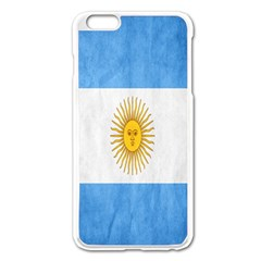 Argentina Texture Background Apple Iphone 6 Plus/6s Plus Enamel White Case by Simbadda