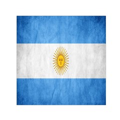 Argentina Texture Background Small Satin Scarf (square) by Simbadda