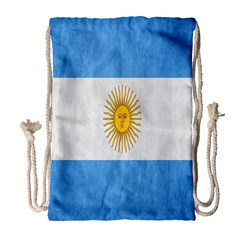Argentina Texture Background Drawstring Bag (large) by Simbadda
