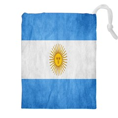 Argentina Texture Background Drawstring Pouches (xxl) by Simbadda