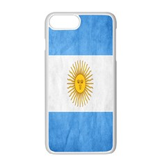 Argentina Texture Background Apple Iphone 7 Plus White Seamless Case by Simbadda