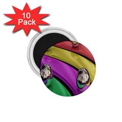 Balloons Colorful Rainbow Metal 1 75  Magnets (10 Pack)  by Simbadda