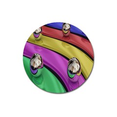 Balloons Colorful Rainbow Metal Magnet 3  (round) by Simbadda