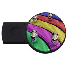 Balloons Colorful Rainbow Metal Usb Flash Drive Round (2 Gb) by Simbadda
