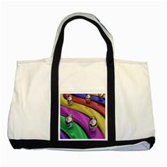 Balloons Colorful Rainbow Metal Two Tone Tote Bag by Simbadda