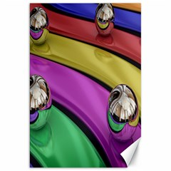 Balloons Colorful Rainbow Metal Canvas 20  X 30   by Simbadda